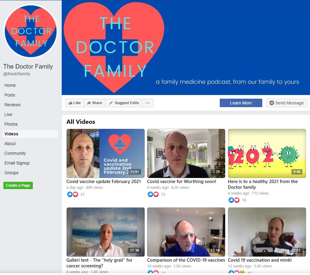 Facebook screenshot of The Doctor Family
