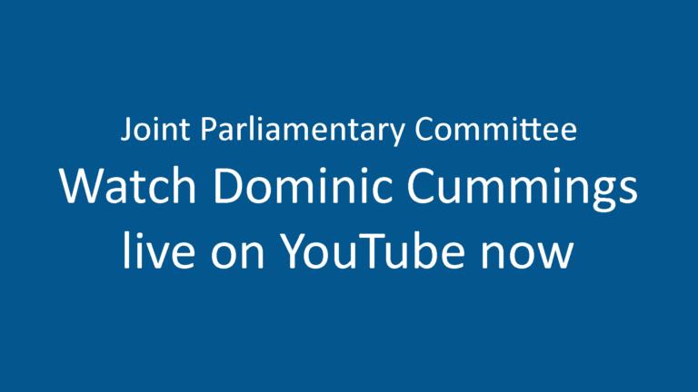 Dominic Cummings Live