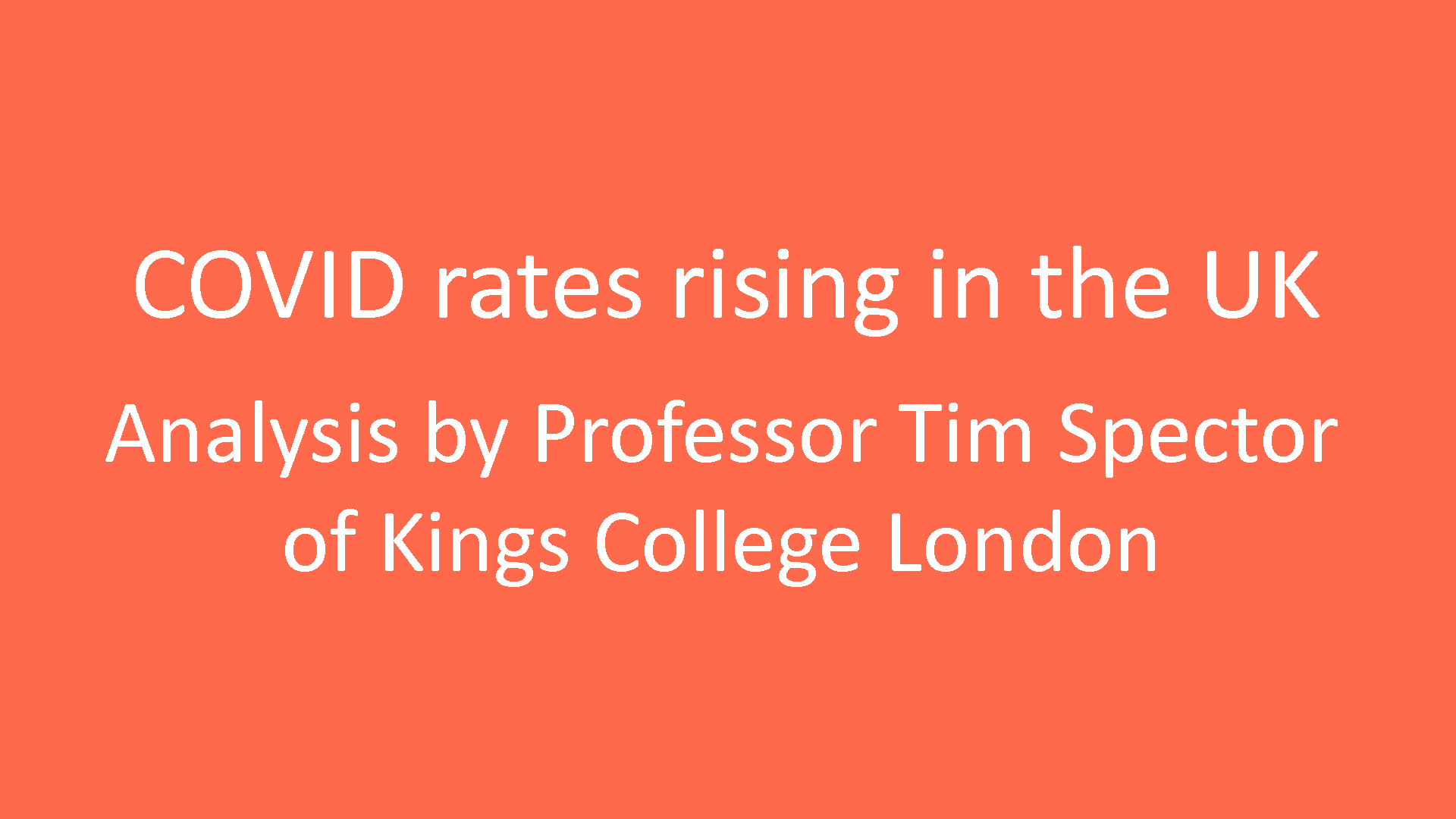 Covid cases rising in the UK