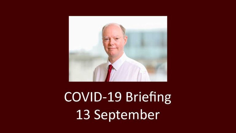 Downing Street COVID briefing on 13 September